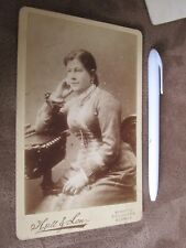Victorian Cabinet card - Ladies portrait - Hall & Son - Brighton & Lewes