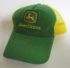 John Deere Snapback Mesh Back Farmer Green Yellow Mesh Trucker Hat vintage Cap
