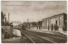 More details for railway station, looking west, invergowrie - perthshire postcard