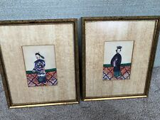 New listing Lot Of 2 Antique Chinese China Qing Dynasty Watercolor Painting