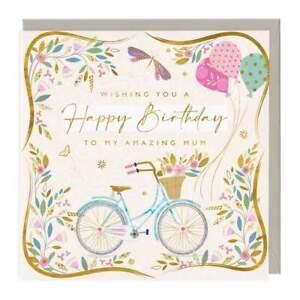 Amazing Mum Bike and Balloons Eco Birthday Card Whistlefish mix any for discoun