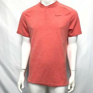 Nike Golf Aeroready Buttoned T-Shirt Salmon Pink Sz M