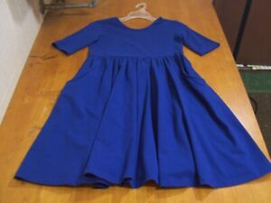 Hanna Andersson Deep Royal Blue Knit Dress -Size 140(10)