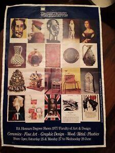1977, Original Poster, Wolverhampton Polytechnic, Art & Design Exhibition