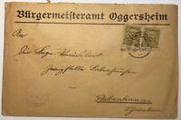 Dt. Reich Infla MeFr Mi. Nr. 324 Bürgermeisteramt Oggersheim n. Babenhausen 1923