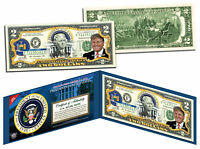 DONALD TRUMP * Presidential Series #45 * Official Legal Tender $2 Bill w/ Folio