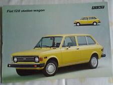 Fiat 128 Station Wagon brochure c1976