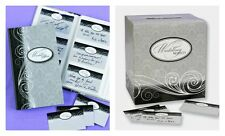 Wishing Well Card Box, Keepsake Book & 84 Guest Cards Damask Black White Grey