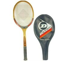 New listing Vintage Dunlop Maxply McEnroe 4 3/4 Wooden Tennis Racquet With Cover EUC Rare