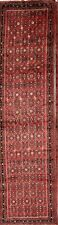 Vintage All-Over 4x13 Hall-way Runner Oriental Carpet Hand-Knotted Rug
