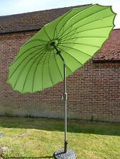 Large 2.7m 270cm Crank And Tilt Garden Parasol Umbrella Japanese Style Metal