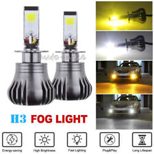 2x H3 LED Fog Light Bulb Driving Light Replacement Bright 6K Bright White Amber