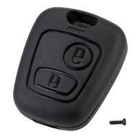 Coque affaire 2 boutons clé de voiture pour Citroen C1 C2 C3 C4 Peugeot 307 107