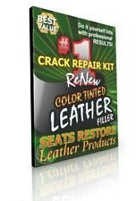 WHITE Leather Crack Gap Filler - SEATS RESTORE - Fills Leather Seat Crack Gaps