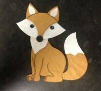 4 Die-Cut Tan Brown Fox Card Making Scrapbook Craft Embellishments Toppers