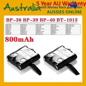 2 X UNIDEN BP38 BP40 UHF HANDHELD RADIO REPLACEMENT BATTERY+NEW+WARRANTY