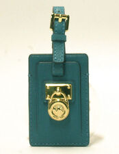NWT Michael Kors Leather Hamilton Travel Tag in Turquoise