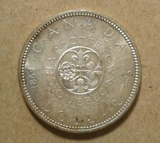 1964 Canada 1 Dollar Silver Coin 100th Anniversary of Charlottetown & Quebec