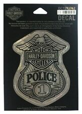 Harley-Davidson® Silver Bar & Shield Eagle Police Badge Decal Sticker DC1263062