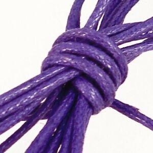 Waxed Cotton Cord : 0.5mm : Purple : 100 metre reel