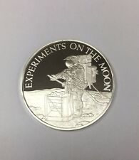 Apollo 12 Sterling Round Franklin Mint Experiments On The Moon