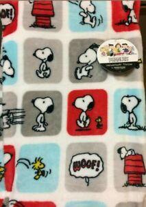 "Peanuts SNOOPY & WOODSTOCK Good Friends Playing Fleece Throw Blanket 60"" x 90"""