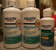 3x EQUATE MOISTURE LAST MULTI PURPOSE SOFT CONTACT LENS SOLUTION 355ML 118ML