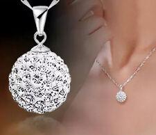 1stk Damen Hals-kette Silber Plattiert-Gebogenes Kreuz Kristall Silber Geschenk