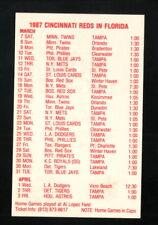 Cincinnati Reds--1987 Spring Training Pocket Schedule--Bud Light