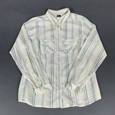 Patagonia Womens 10 Striped Button Down Long Sleeve Blouse Sheer Top