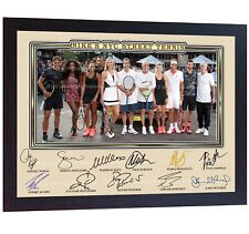 Roger Federer Agassi Nadal Sampras McEnroe Williams Sharapova KEYS signed FRAMED
