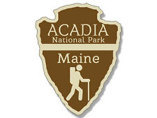 3x4 inch Arrowhead Shaped ACADIA National Park Sticker - rv hiking camping maine
