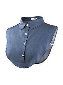 Wearlizer Women HalfShirt Blouse Collar Detachable Collar Unisex Tie One Size