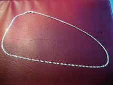 """High Quality 2MM  925 Sterling Silver  Flat Chain Necklace  20"""""""