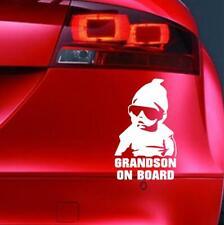 GRANDSON ON BOARD Sticker Funny Car JDM VAN Window Bumper Novelty Vinyl Decal
