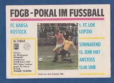 Orig.PRG   FDGB Pokal   1986/87   FINALE   FC HANSA ROSTOCK - 1.FC LOK LEIPZIG !