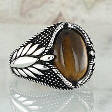Solid 925 Sterling Silver Ring Man Ring Tiger Eye Gemstone Solid Handmade