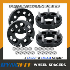 "4PC 1"" 5x100 To 5x114.3 Wheel Adapters 12x1.5 5x4.5 Spacers Changes Bolt Pattern"