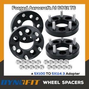 """4PC 1"""" 5x100 To 5x114.3 Wheel Adapters 12x1.5 5x4.5 Spacers Changes Bolt Pattern"""