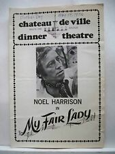 MY FAIR LADY Playbill NOEL HARRISON / VIRGINIA VESTOFF / JACK FLETCHER MA 1975