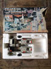 TRANSFORMERS G1 METROPLEX BATTLE STATION W/ORIGINAL BOX VINTAGE HASBRO 1985