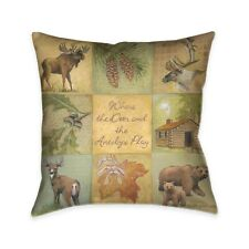 Laural Home Deer and Antelope Indoor Decorative Pillow