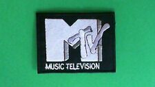 RETRO MTV MUSIC TELEVISION IRON ON PATCH NEW ROCK METAL POP HIP HOP USA SELLER