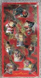 Grandeur Noel Collector's Edition 9 Piece Claydough Christmas Ornament Set