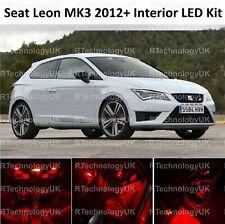 RED PREMIUM SEAT LEON 5F MK3 2012-2018 INTERIOR LED XENON LIGHT KIT BULB ST