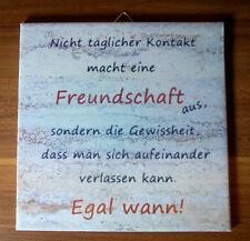 Dekofliese Wandbild Bildfliese Freundschaft Spruch Beige (038DP) Handarbeit
