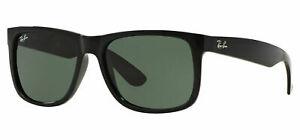 Ray Ban Sunglasses Justin 4165 601/71 Black Green  Rayban RB4165