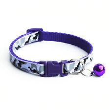 New Camo Pet Kitten Cat Adjustable Reflective Breakaway Pet Safety Collar Bell