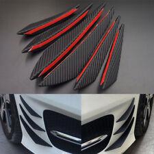 6X Universal Carbon Fiber Front Bumper Body Spoiler Canards Splitter Fins Set
