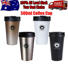 Stainless-Steel Thermal Insulated Tea Coffee Mug Cup Travel Leakproof Cup 500ml